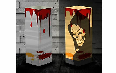 $12.99 • Buy Halloween Party Deco LED Paper Table Lamp Skull  Witch Ghost Light USB Lantern