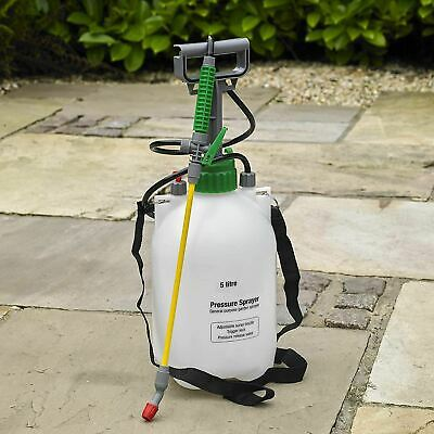 5L Garden Pressure Sprayer – Portable Hand Pump Chemical Weed Spray Bottle • 10.95£