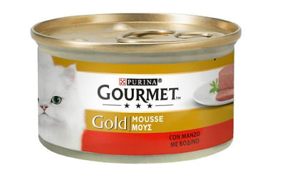 Purina Gourmet Gold Mousse Beef Packet  Cat Pet Food 85g • 2.90£