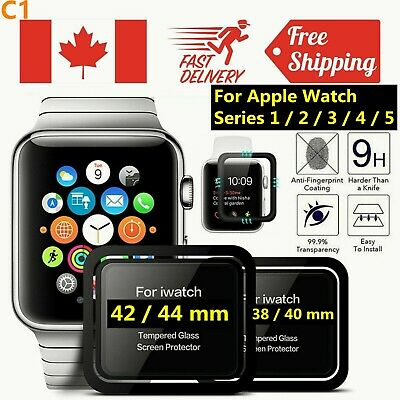 $ CDN6.95 • Buy Full Cover Premium Tempered Glass Screen Protector Apple Watch Series 1 2 3 4 5