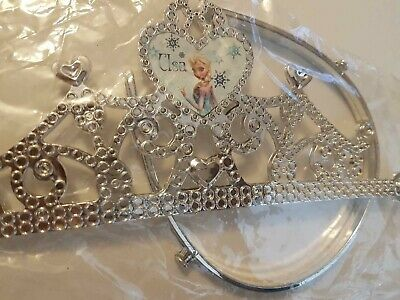 Disney Frozen Crown Elsa Tiara  Fancy Dress Princess - SILVER • 5.99£