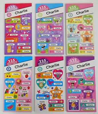 AU3 • Buy 225 Charlie Personalised Name Labels  - Back To School Fun Sticker