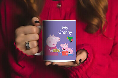 Lovely Gift For Granny Beautiful Peppa Pig Printed Coffee Mug • 6.99£