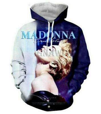 $ CDN17.43 • Buy Sexy Star Madonna 3D Print Hoodie Men Women Casual Sweatshirt Pullovers Tops
