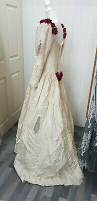Halloween Dead Zombie Bride Wedding Dress And Veil Medium Customised • 24.99£