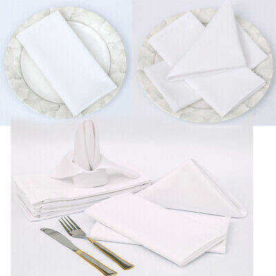 Napkins Table Linen Dinner Cloth Poly Cotton Hotel Wedding 12 Pack (30 X 30 Cm) • 8.99£