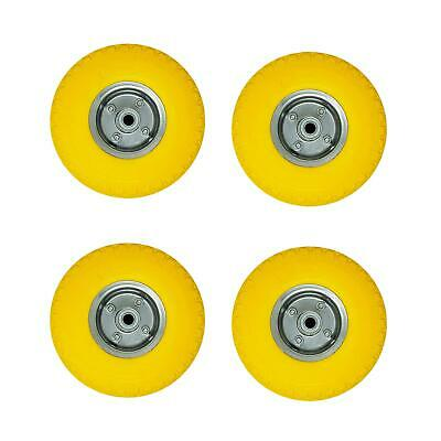 AU79.77 • Buy 4 X 10  Puncture Burst Proof Solid Rubber Sack Truck Trolley Wheels Tyres