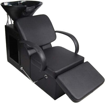 $409.99 • Buy Backwash Sink Beauty Salon Chair Barber Shampoo Adjustable Station Equipment Spa