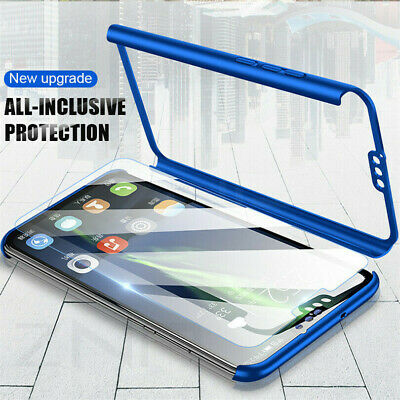 $6.97 • Buy For Xiaomi Redmi Note 8T 7 6 Pro 5A 360° Full Slim PC Cover Case+Tempered Glass