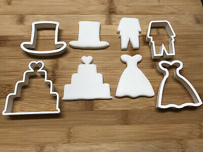 £8.99 • Buy Wedding Set Of 4 Cookie Cutters Biscuit, Pastry, Fondant,