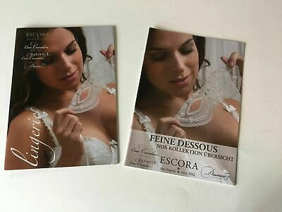 Escora Fine Lingerie 2 Catalog Books European Coco Cavaliere Diamor Book Set • 10$