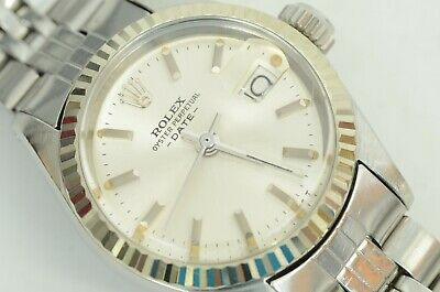 $ CDN2052.03 • Buy Auth Rolex Vintage Watch Oyster Perpetual Date White Gold 6917 Overhauled 1970s