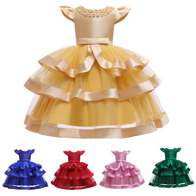 £15.52 • Buy Ball Gown Kids Girls Pageant Dress Christmas Princess Flower Formal Prom Dresses