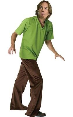 Licensed Shaggy Mens Adult Scooby Doo Cartoon Fancy Dress Up Halloween Costume • 35.80£