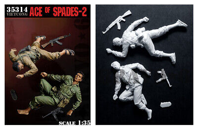 1/35 Scale Resin Figure Kit VC Fighters Ace Of Spades #2 Vietnam Casualties • 25.99£