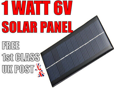 £4.99 • Buy 6V 1W 166mA Solar Panel For Any DIY Projects Arduino,Raspberry PI,PIC,AVR