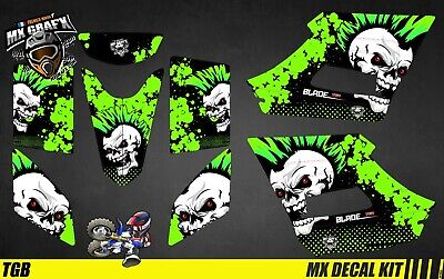 Kit Déco Quad Pour / Atv Decal Kit For TGB Blade - Punk Skull Green • 128.99£