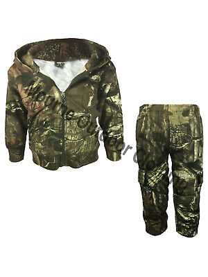 Kids Realtree Camo Hunting Tracksuit Childrens Camouflage Hoodie Bottom Suit • 24.95£