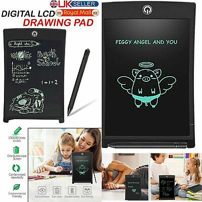 """8.5"""" Digital Electronic LCD Writing Drawing Tablet Pad For Kids Graphics Notepad • 5.99£"""