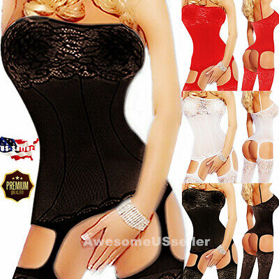 $7.85 • Buy Sexy Lingerie Bodystocking Stockings Babydoll Sleepwear Nightwear Lace Bodysuit