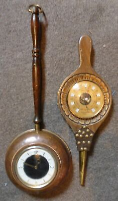 Tempora Copper Frying Pan Clock & Bellow Style Barometre (spares / Repairs) Bxd • 9.96£