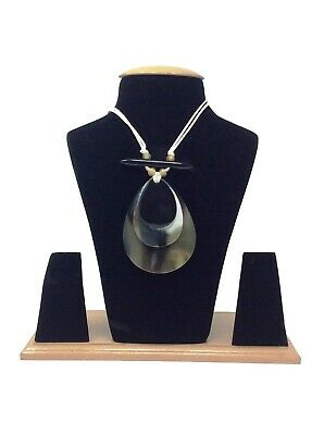 AU122.76 • Buy Horn Necklaces For Women Horn Jewelry Horn Pendant Adjustable With Earring Set