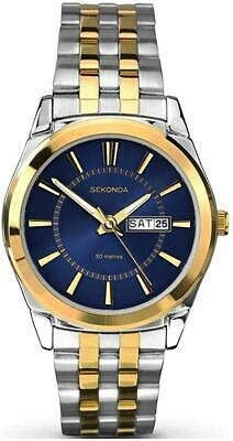 £39.99 • Buy Sekonda Men's Watch With Midnight Blue Dial And Two Tone Bracelet 1032