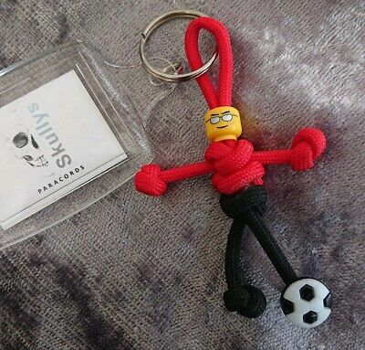 Manchester United Footballer PARACORD BUDDY Keyring Keychain  - HAND MADE IN UK • 4.95£