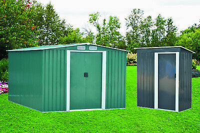 New Metal Garden Shed 3 X 5, 4 X 6, 6 X 8, 10 X 8 Garden Storage With Free Base • 139.99£