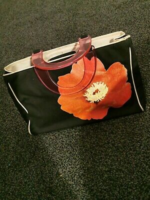 Mexx Black And Red Poppy Tote Bag Plastic Handles • 19.99£