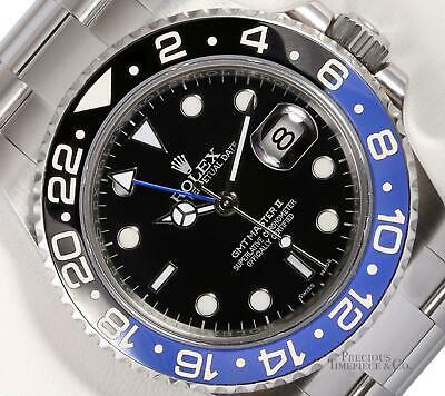 $ CDN20010.60 • Buy Rolex Mens GMT Master-II 116710BLRN Steel 40mm Watch Batman Blue Ceramic Bezel