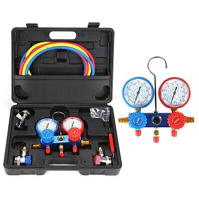 Air Conditioning R-134A AC Diagnostic A/C Manifold Gauge Tool Set Refrigeration • 21.99£