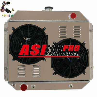 AU359 • Buy 4 ROW Radiator+Shroud+Fan+Thermostat FOR 1966-79 FORD F100 F150 F250 F-350 Truck