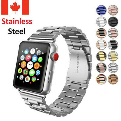 $ CDN13.99 • Buy Stainless Steel Strap Metal Wrist Watch Band For Apple Watch Series 5 4 3 2 1