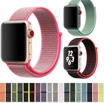 $ CDN8.99 • Buy Nylon Soft Breathable Watch Band Strap For Apple Watch Series 5/4/3/2/1