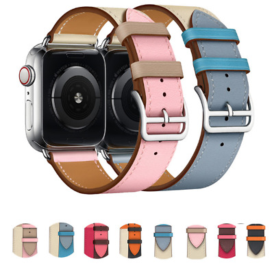 $ CDN11.99 • Buy Leather Watch Band Strap For Apple Watch Series 5 4 3 2 1 38/40MM 42/44MM