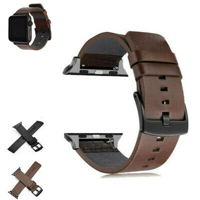 $ CDN12.35 • Buy Genuine Leather Buckle Wrist Watch Band  Bracelet For IWatch Series 5 4 3 2 1