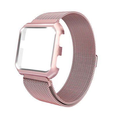 $ CDN11.99 • Buy Magnetic Milanese Stainless Steel Loop Strap + Frame Case Band For Fitbit Versa