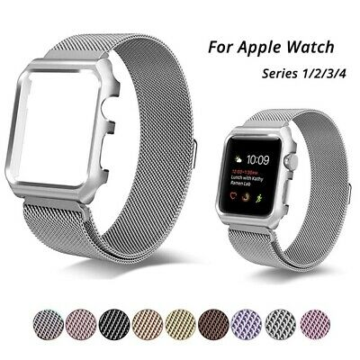 $ CDN14.99 • Buy Milanese Metal Band Magnetic Strap + Frame Case For Apple Watch Series 3 2 1