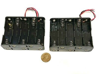 £7.25 • Buy 2 Pieces  Battery Holder Box Case Wired 10 X AA 12V 15V 10aa Back To Back  C38