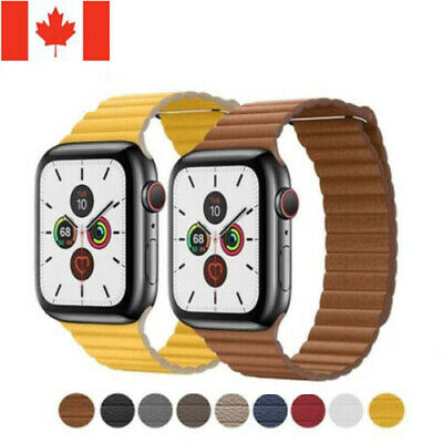 $ CDN14.99 • Buy Magnetic Leather Loop Wrist Watch Band For Apple Watch Series 5 4 3 2 1