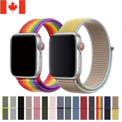 $ CDN9.99 • Buy Nylon Soft Loop Replacement Sport Watch Band For Iwatch Series SE 6 5 4 3 2 1