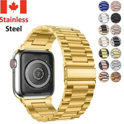 $ CDN13.99 • Buy Classical Stainless Steel Metal Strap Wrist Band For Apple Watch Series 5 4 3 21
