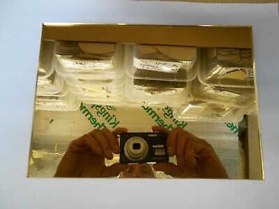 Mirror Acrylic Sheet, Gold One Side / Silver One Side.3mm Thick, A2 Size, .X1 • 24.99£