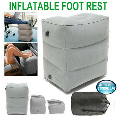 AU13.99 • Buy Inflatable Foot Rest Cushion Travel Air Pillow Office Home Leg Footrest Relax AU
