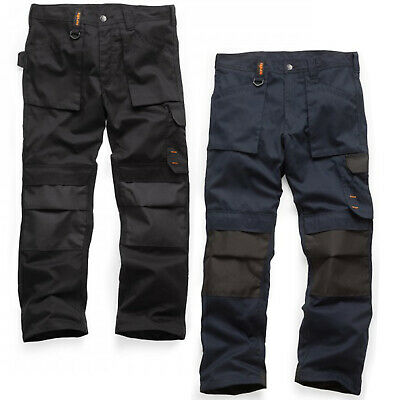 Scruffs Worker Plus Trousers Non-Holster Graphite Grey Navy Black Men's Trade • 22.95£