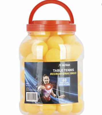 AU85.95 • Buy Action Table Tennis Balls 60 Pack