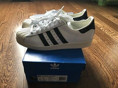 $ CDN69.99 • Buy Authentic Adidas Original Superstar 80s Size 9 White Black Stripes Shell Toe