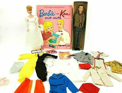 $ CDN396.96 • Buy Vintage 1960's Blonde Ponytail Barbie W/ Vintage Ken & Clothing Lot W/ Cut Outs