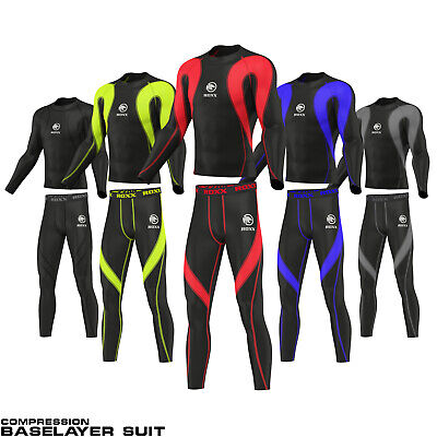ROXX Mens Compression Tights+Top Base Layer Skin Tights Shirt Armour Full Suit  • 21.99£